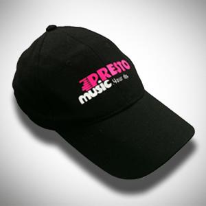 הדפסה על כובע שחור