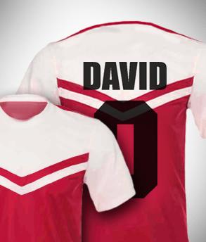 חולצת כדורגל עם השם שלך
