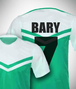 הדפסת כיתוב על חולצת כדורגל